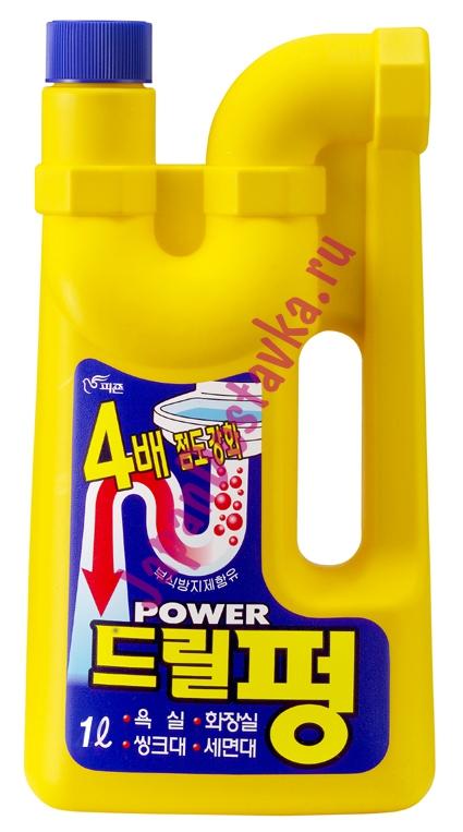 Средство для чистки и профилактики засоров Power Drill Pung, PIGEON (Корея) 1 л