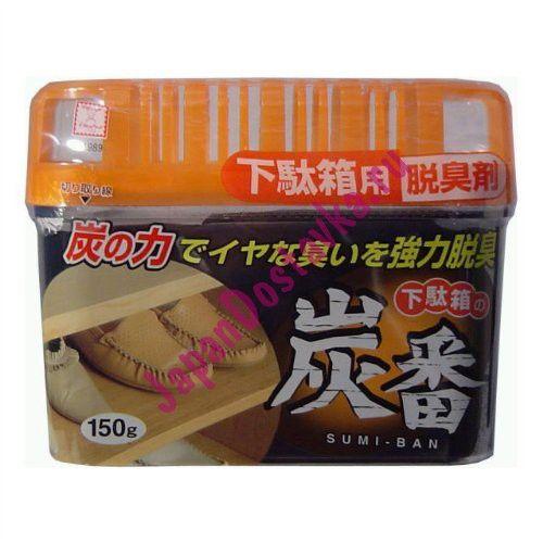 Дезодорант-поглотитель запахов для обувных шкафов (с древесным углём), KOKUBO 150 г