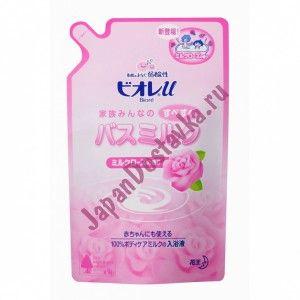 Молочко для ванн с ароматом розы
