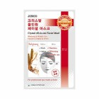 Маска тканевая c красным женьшенем Junico Crystal All-in-one Facial Mask Red ginseng MIJIN 25 г