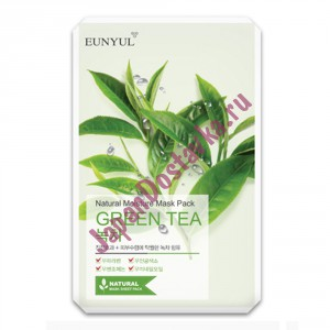 Маска с зеленым чаем Natural Moisture Mask Pack Green Tea, EUNYUL Корея 23 мл