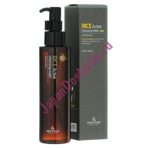 Мицеллярная вода с экстрактом риса Rice Active Cleansing Water, THE SKIN HOUSE Корея 150 мл