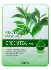 Тканевая маска с экстрактом зеленого чая Real Essence Mask Pack Green Tea, JUNO Корея 25 мл