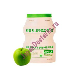 Маска разглаживающая с экстрактом йогурта и яблока Real Big Yogurt Bottle Apple, APIEU Корея 21 г