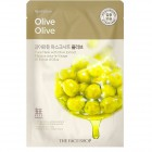 Тканевая маска для лица с экстрактом оливы Real Nature Olive Face Mask, THE FACE SHOP Корея 20 г