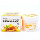 Маска для лица с экстрактами меда и золота Honey & Gold Wash-Off Pudding Pack, DEOPROCE Корея 110 г
