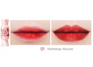 Тинт-мусс для губ Конфетка Mousse Candy Tint, оттенок 01 Redmango, THE SAEM Корея 8 г