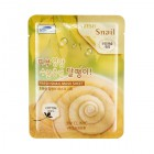 Тканевая маска для лица с экстрактом муцина улитки Fresh Snail Mask Sheet, 3W CLINIC Корея 23 мл