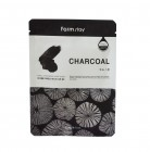 Тканевая маска с углем Visible Difference Mask Sheet Charcoal, FARMSTAY Корея 23 мл