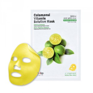 Маска для лица тканевая витаминная Calamansi Vitamin Solution Mask, EYENLIP Корея 25 мл