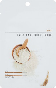 Тканевая маска для лица с экстрактом риса Rice Daily Care Sheet Mask, EUNYUL Корея 22 г