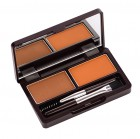 Пудра для бровей 01 Eco Soul Eyebrow Kit 01 Brown, SAEM 2*2,5 г Корея