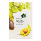 Маска тканевая с экстрактом авокадо Natural Avocado Mask Sheet, The Saem 21 мл