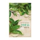 Тканевая маска для лица с экстрактом зеленого чая Real Nature Mask Sheet Green Tea, NATURE REPUBLIC Корея 23 мл