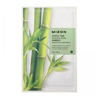 Тканевая маска для лица с экстрактом бамбука Joyful Time Essence Mask Bamboo, MIZON   23 мл